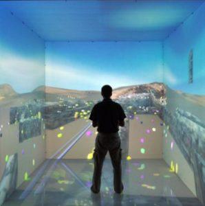 six sided walk-in virtual reality room